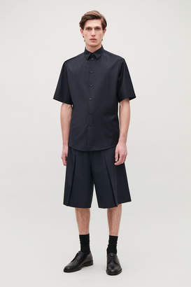 Cos SHORT-SLEEVED SHIRT WITH PIPING