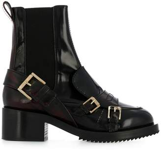 No.21 burnout effect elasticated boots