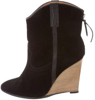 IROIro Suede Wedge Ankle Boots