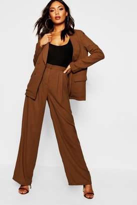 boohoo Wide Leg Woven Tailored Trouser