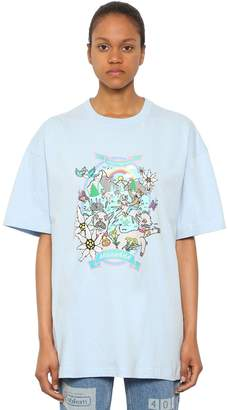 Vetements Oversize Crazy Goat Cotton T Shirt