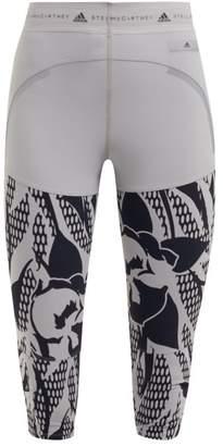 adidas by Stella McCartney Run Az Floral Print Leggings - Womens - Grey Multi