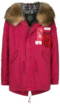 Mr & Mrs Italy hooded patch parka coat