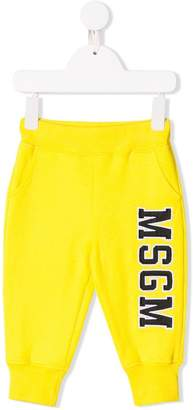 MSGM Kids logo patch track pants