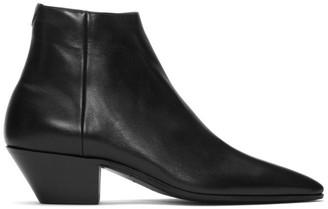 Saint Laurent Black Jonas Zipped Boots