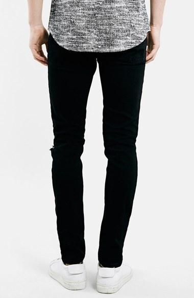 Men's Topman Ripped Stretch Skinny Fit Jeans 2