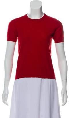 Brunello Cucinelli Short Sleeve Cashmere Top