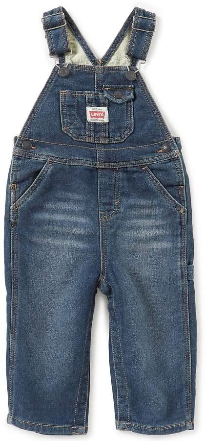 Baby Boys 12-24 Months Knit Denim Overalls