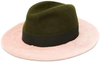 Yves Salomon wide brim fur hat