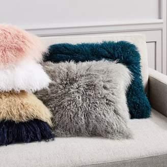 west elm Mongolian Lamb Pillow Covers - Square