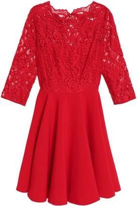 Claudie Pierlot Corded Lace-Paneled Crepe Dress