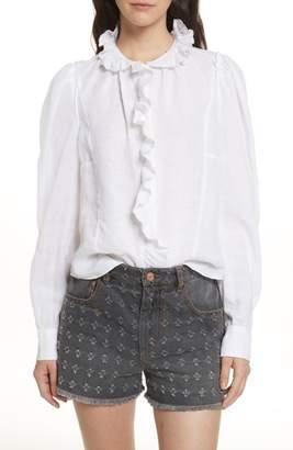 Etoile Isabel Marant Tauren Broderie Linen Shirt