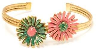 Aurelie Bidermann Athina Daisy Embellished Cuff - Womens - Pink