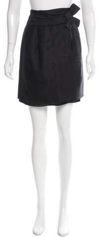 Kate Spade New York Bow-Accented Silk Skirt