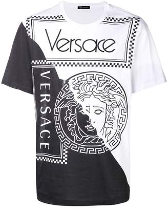 Versace two tone medusa T-shirt