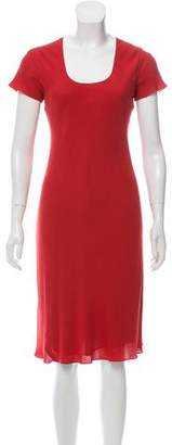 Calvin Klein Collection Fluted Silk Dress w/ Tags