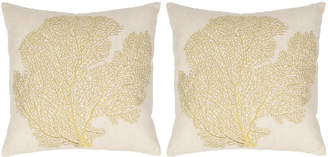 Safavieh Spice Fan Coral Pillows, Set of Two