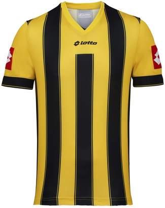 Lotto Mens Striped Vertigo Evo Short Sleeve Football Shirt (XL) (Yellow/Black)