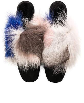 Stuart Weitzman Furgetit Fox Fur Slide