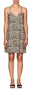 ATM Anthony Thomas Melillo Women's Leopard-Print Silk Slipdress