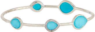 Ippolita Lollipop 5-Stone Bangle in Turquoise w/ Diamonds