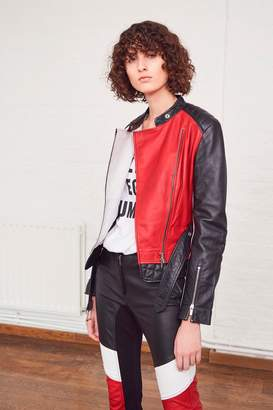 French Connection Evia Leather Belted Waist Jacket