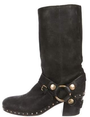 Miu Miu Leather Stirrup Booties