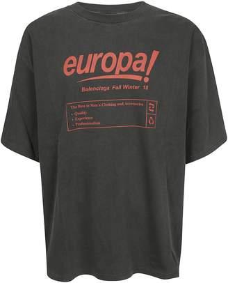 Balenciaga Europa Print T-shirt