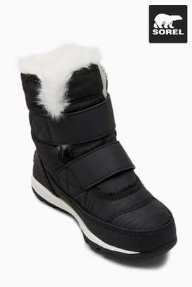 Next Girls Sorel Black Whitney Velcro Boot