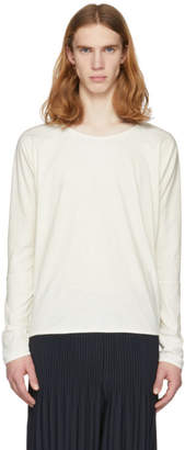 Off-White Jan-Jan Van Essche Long Sleeve Bio Cotton T-Shirt