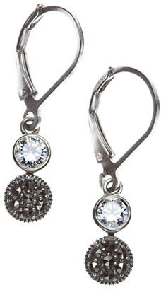 Judith Jack Sterling Silver  and Crystal Drop Earrings $65 thestylecure.com