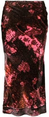 Ellery floral print skirt