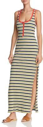 Splendid x Margherita Striped Rib-Knit Maxi Dress