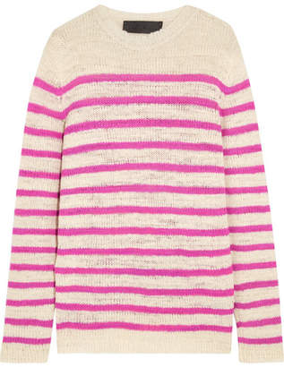 The Elder Statesman Picasso Striped Cashmere Sweater - Cream