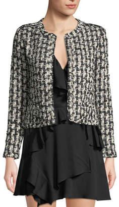 IRO Gonna Pearl-Embellished Cropped Tweed Jacket