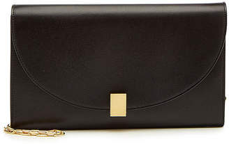 Victoria Beckham Half Moon Leather Wallet on Chain