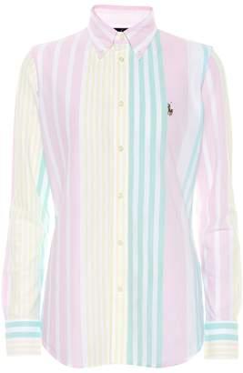 Polo Ralph Lauren Striped cotton knit oxford shirt