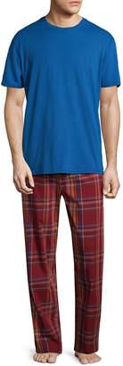 Original Penguin Plaid Tonal Pajama Set