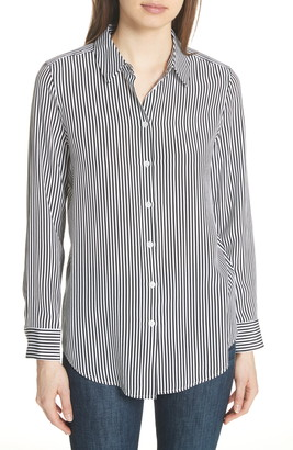 Equipment Essential Stripe Silk Shirt