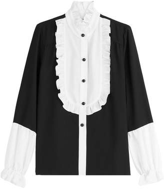 Anna Sui Blouse with Ruffled Bib