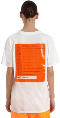 MM6 MAISON MARGIELA (エムエム6 メゾン マルジェラ) - MM6 MAISON MARGIELA ラバーロゴ コットンジャージーTシャツ