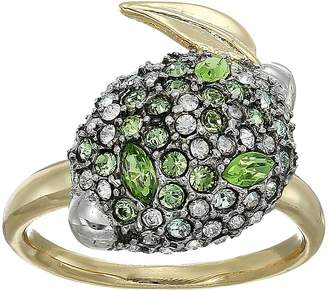 Alexis Bittar Crystal Encrusted Lime Ring