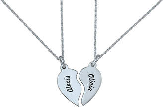 JCPenney FINE JEWELRY Personalized Best Friends Half-Heart Necklaces