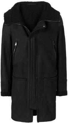 Salvatore Santoro lined hooded coat