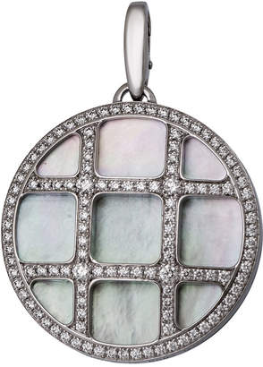 Cartier Pasha 18k Mother-of-Pearl & Diamond Pendant Enhancer