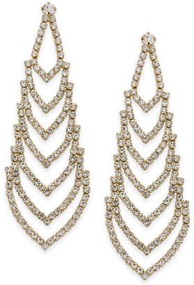 Nina Gold-Tone Crystal Chandelier Earrings