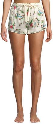 Morgan Lane Lanie Martine Tropical Silk Pajama Shorts