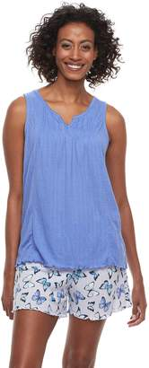 Croft & Barrow Women's Gauze Tank & Shorts Pajama Set