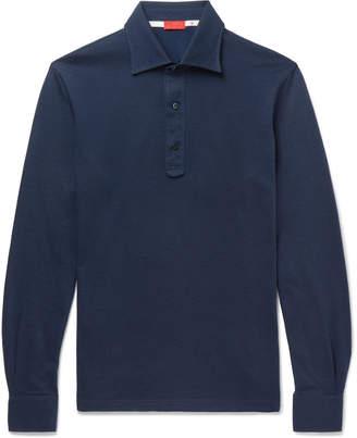 Isaia Cotton-Jacquard Polo Shirt