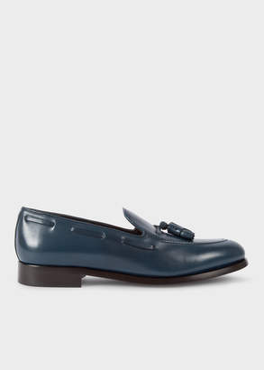 Paul Smith Men's Navy Leather 'Simmons' Tasseled Loafers